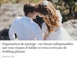 zankyou organisation mariage mona lisa