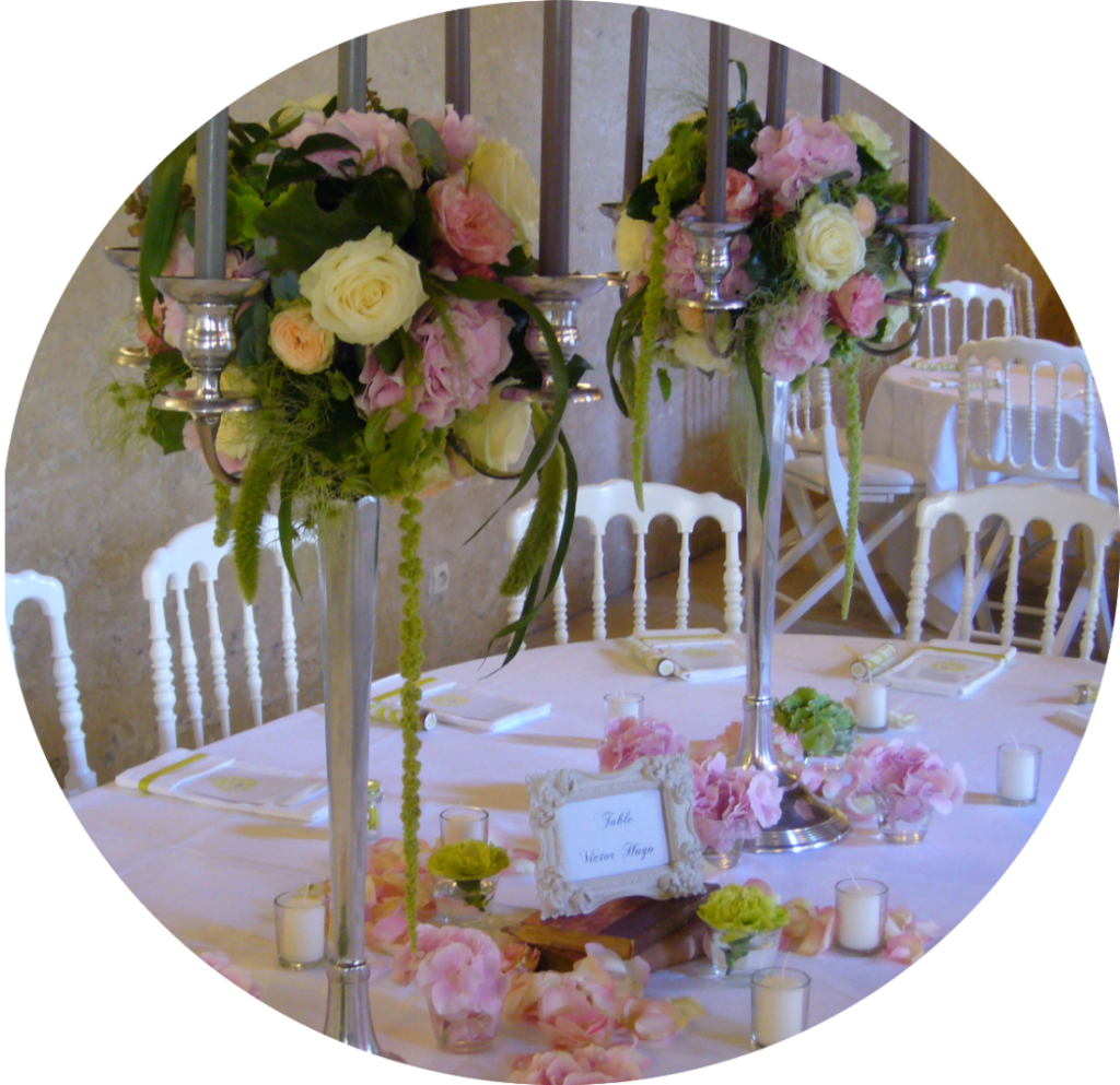 MonaLisa wedding planner décoration mariage chateau