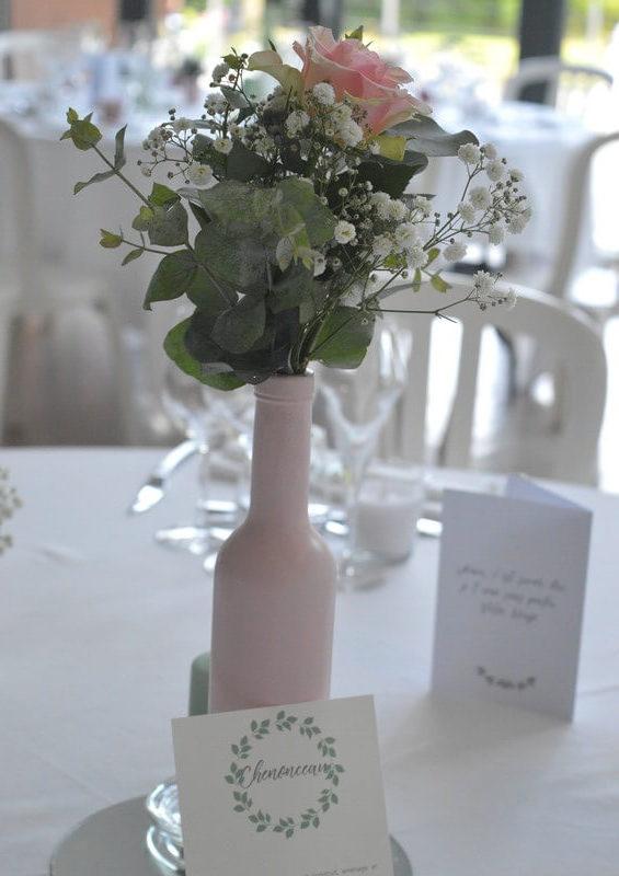 MonaLisa wedding planner tours 37 mariage décoration pastel bouteille rose eucalyptus