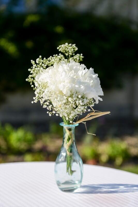 MonaLisa wedding planner tours 37 organisation mariage décoration cocktail vase gypsophile