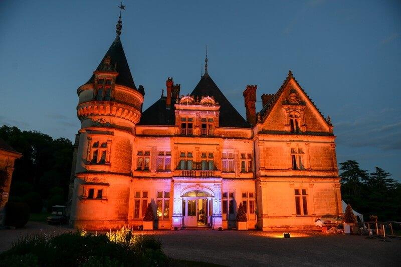 MonaLisa wedding planner tours 37 organisation mariage château de la bourdaisière montlouis éclairage nuit