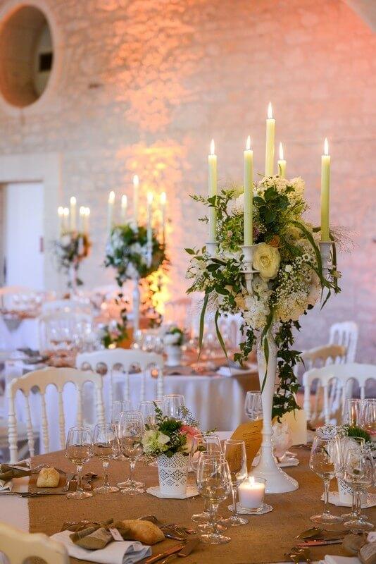 Monalisa wedding planner organisation mariage tours 37 décoration chateau bourdaisiere chandeliers fleuris