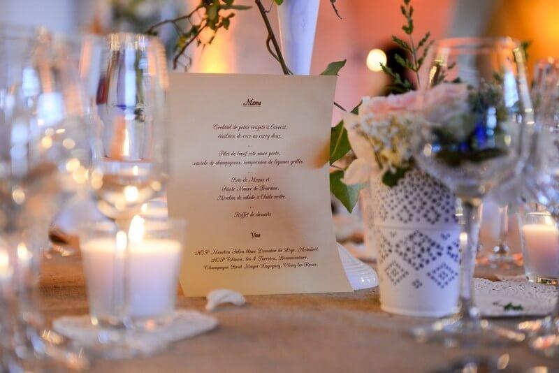 MonaLisa wedding planner tours 37 organisation mariage décoration table menu thème champêtre