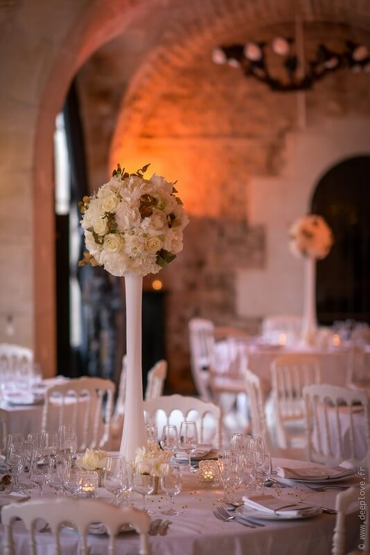 MonaLisa wedding planner tours 37 organisation mariage décoration salle art hotel rochecorbon thème blanc et or