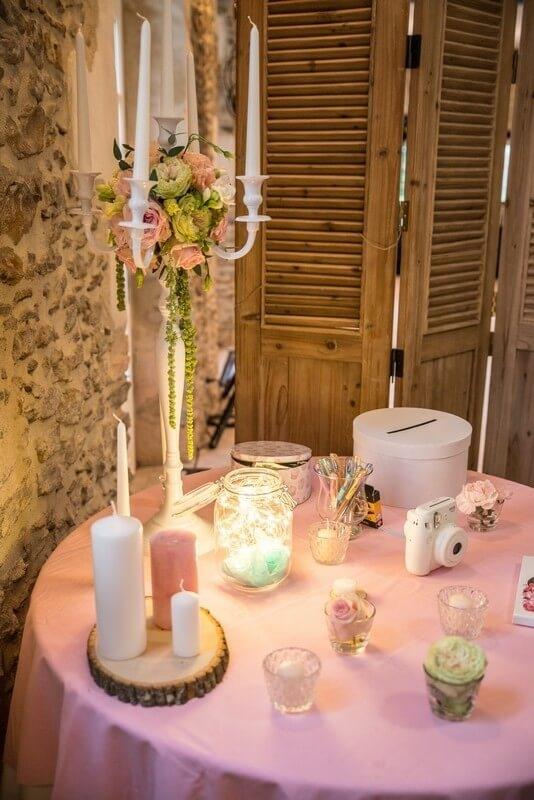 MonaLisa wedding planner tours 37 organisation mariage polaroid urne livre d'or bougies