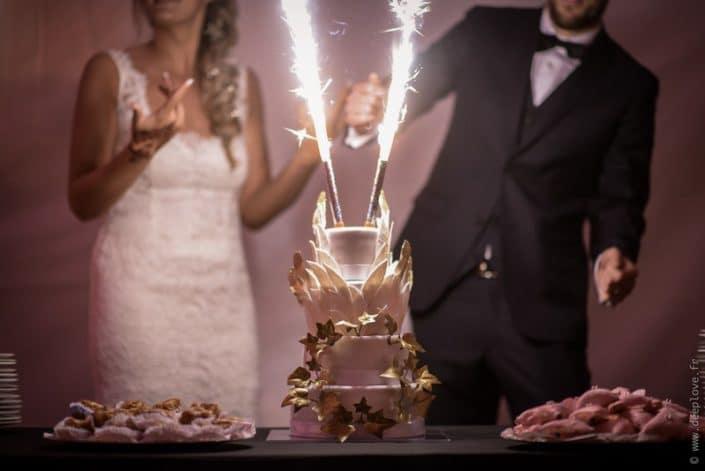 MonaLisa wedding planner tours 37 indre et loire mariage art hotel wedding cake blanc et or