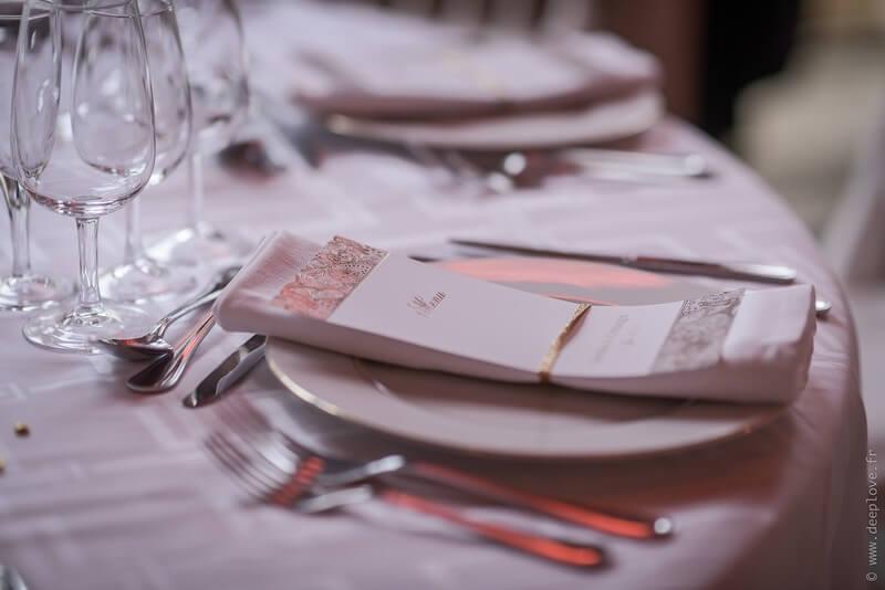 MonaLisa wedding planner tours 37 organisation mariage menu décoration table thème blanc et or art hotel rochecorbon