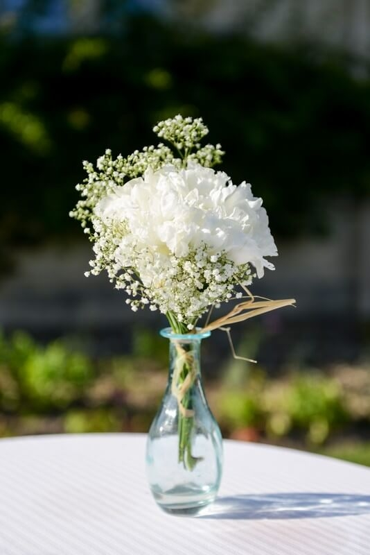 MonaLisa wedding planner tours 37 organisation mariage décoration cocktail vase gypsophile