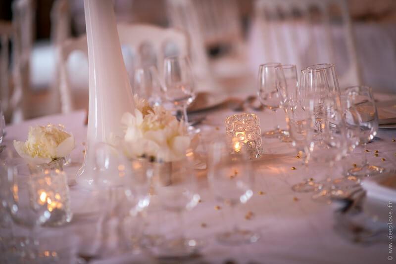 MonaLisa wedding planner tours 37 organisation mariage décoration table thème blanc et or