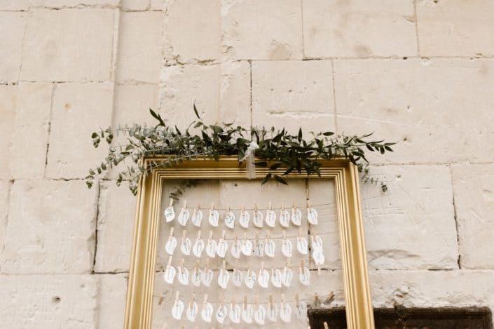 marque place décoration mariage or anglais jane austen Wedding planner tours laborde saint martin