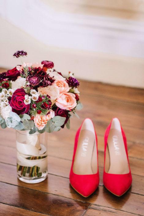 wedding planner - Tours- Indre et Loire - chaussures mariée - bouquet mariage