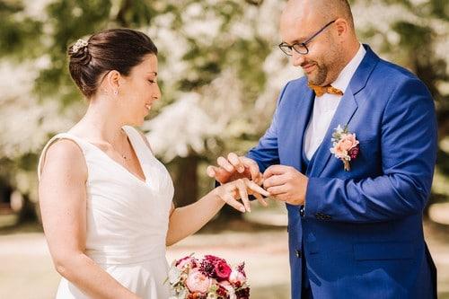 échange alliances mariés mariage ceremonie laique mariage monalisa wedding planner tours